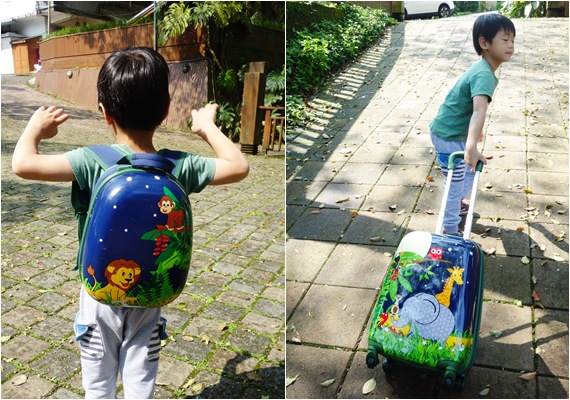 澳洲 bobbleart 輕巧造型硬殼行李箱組-歡樂叢林派對  (2).jpg