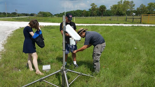 Setting up PSS electric field meter