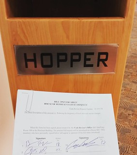 """Rep. Vick drops a bill in the """"Hopper"""" that would ease burdens on local businesses."""