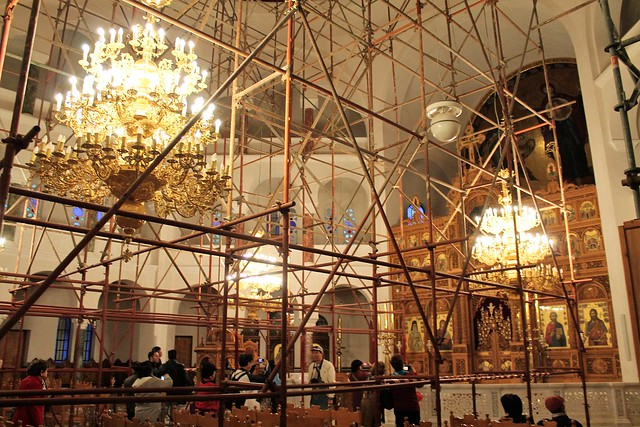 Church of Saint Nektarios interior construction