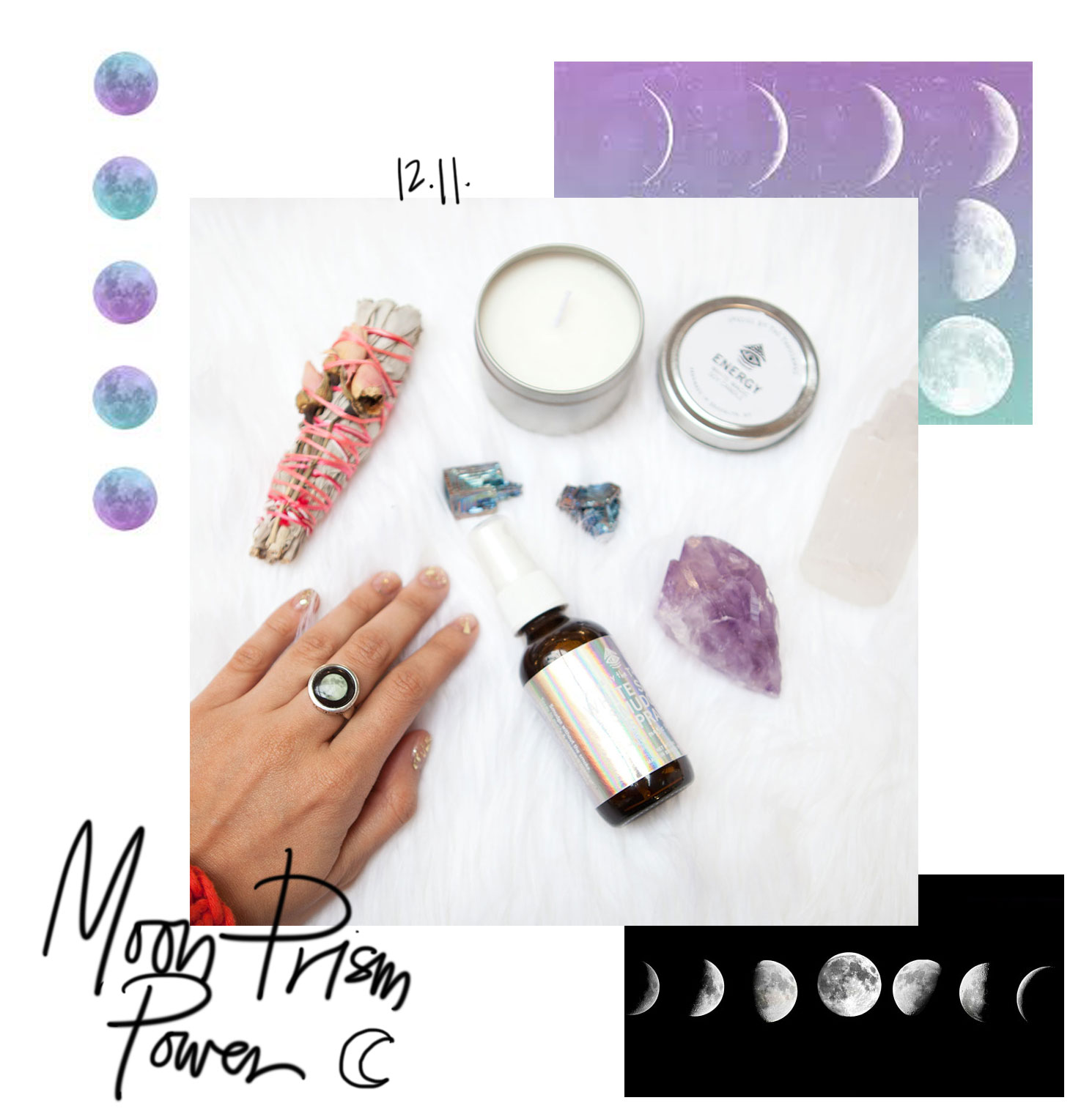 Moonglow Ring Jewelry Phases of the moon