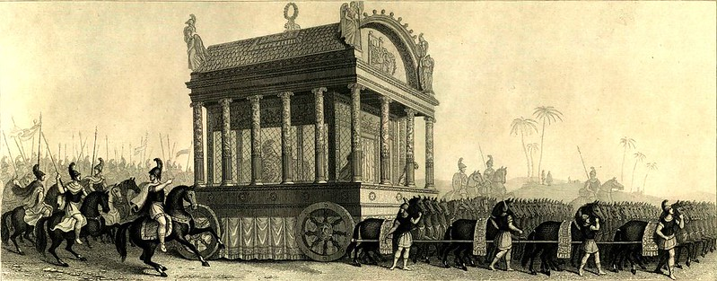 Alexander the Great's funeral procession based on the description of historian Diodorus Siculus