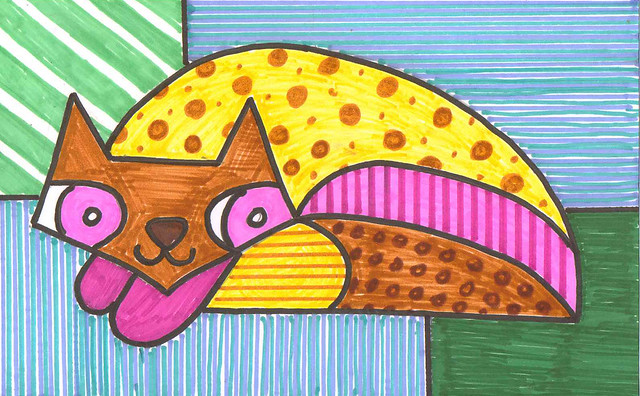 britto cat - mark