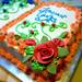 Torta decorata in panna montata vegetale