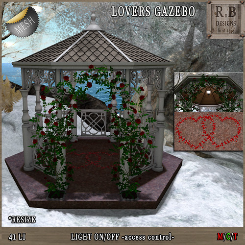 Thrift Shop NEW RELEASE 50% OFF !!! *RnB* Garden Lovebirds -nature sounds menu- (copy)(Resize)SE !!! *RnB* Mesh Lovers Gazebo w Light (copy)(resize)