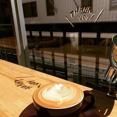 thank you❤︎  #coffeelabofrank #kobe #japan #神戸 #latte