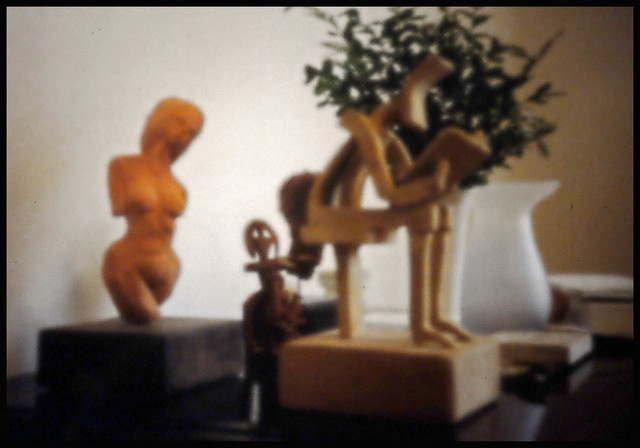 SOME OF MY EARLIEST CLAY MODELS