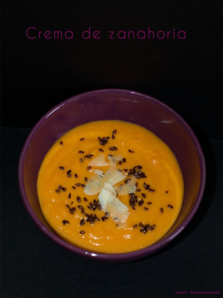 Crema de zanahoria. ManzanasRojasR
