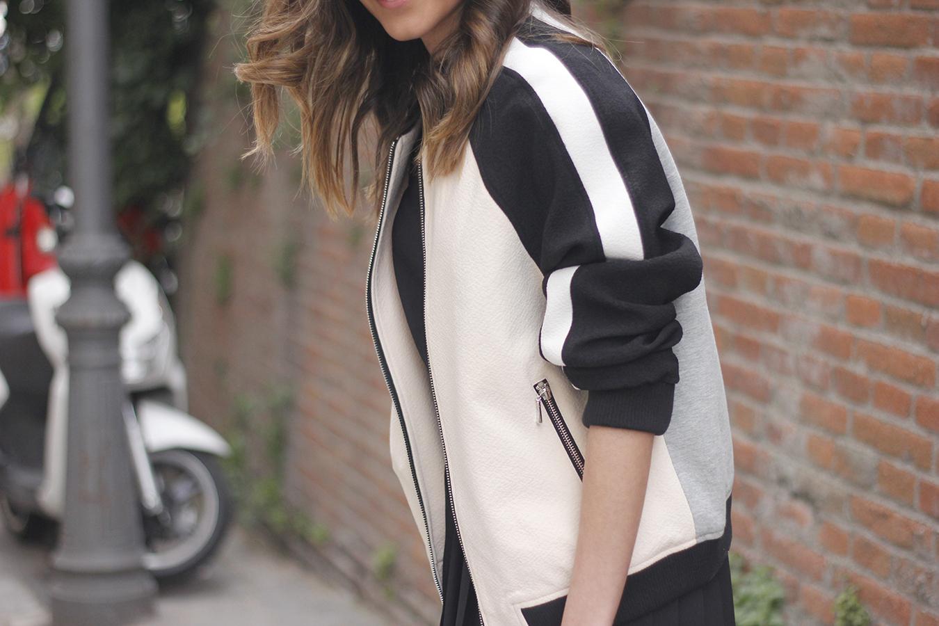 Bomber Mango Black Mango Skirt Black Heels outfit style12