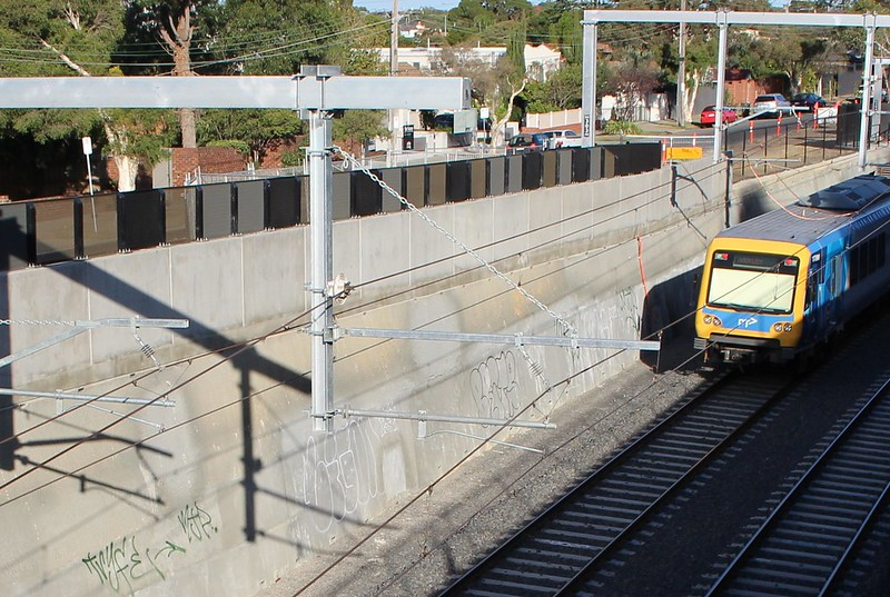 Train trench near Gardiner station
