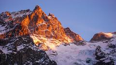 Szczyt La Meije 3987m od północy.