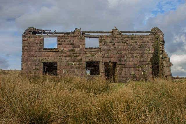 Abandoned house, The Roaches