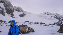 Tomek pod przełęczą Passo di Sasso Rosso 3504m