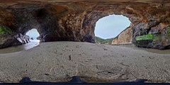 Inside the arch at Shark Fin Cove