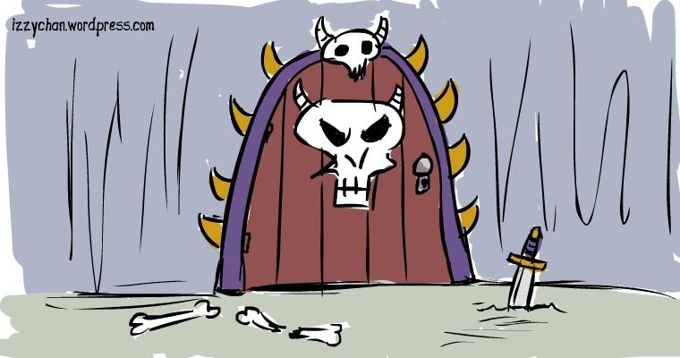 fantasy skull door