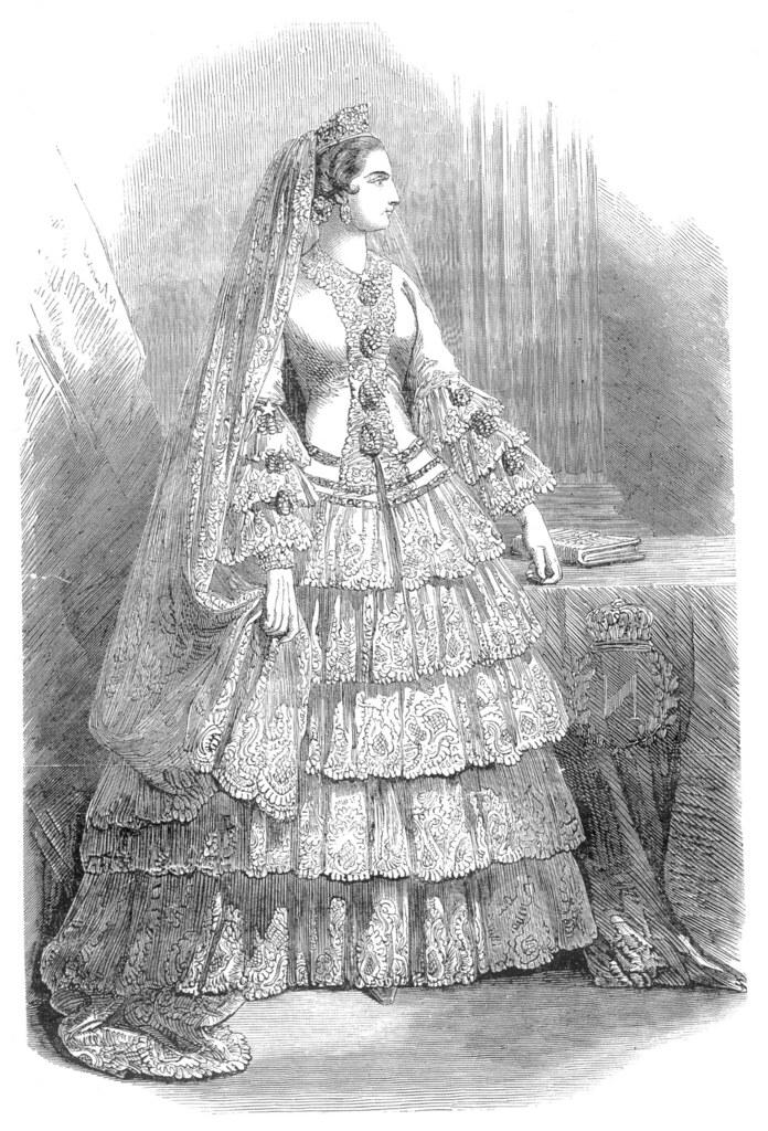 Robe de mariée de l'impératrice Eugenie