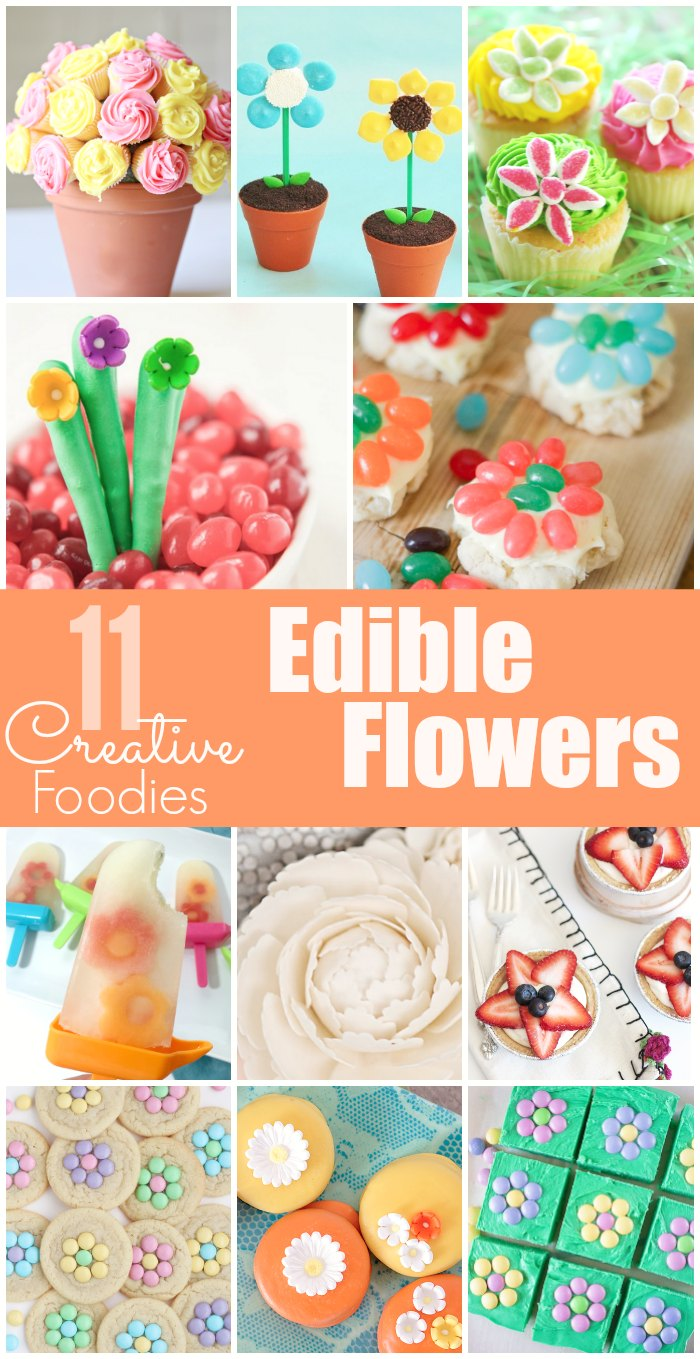 11 lovely Edible Flowers from some of the top creative bloggers