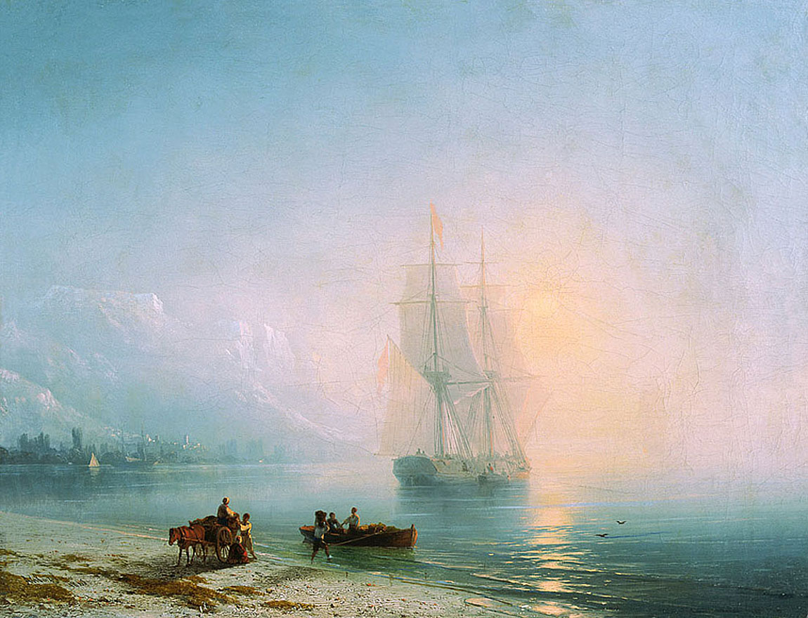 Calm Sea by Ivan Aivazovsky, 1863