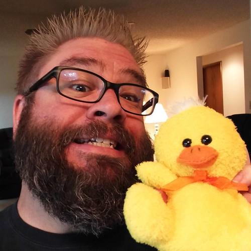 I got a duck in my basket!