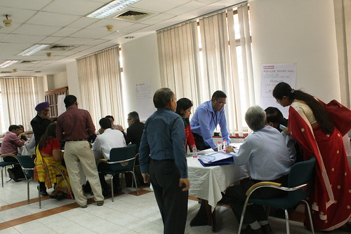 During group work at the ICAR-ILRI communications workshop