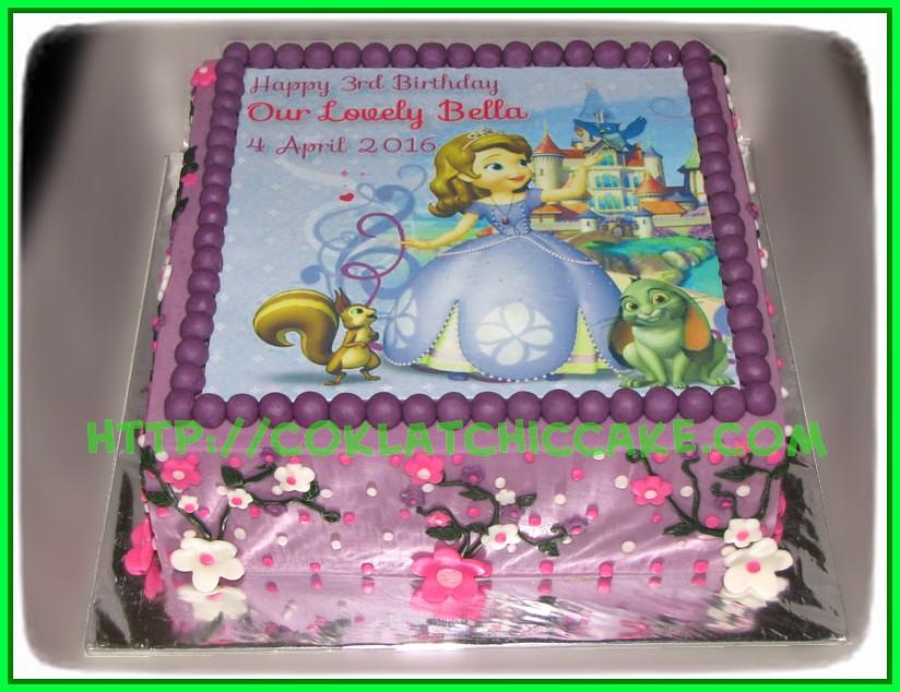 Cake Princes Sofia Bella Coklatchic Cake