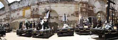 Antigua: les chars des processions de Pâques