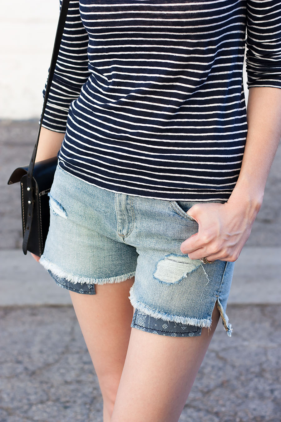 Denim Shorts, Distressed Denim