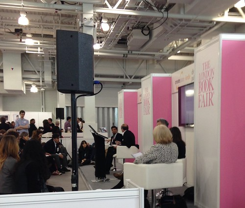 Author pitch at London Book Fair