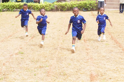 Racing at the Louisville Nursery and Primary School, Ibadan, Sports Day