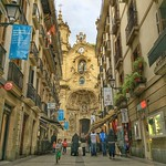 San Sebastián, Parte Vieja (old quarter). Basilica de Santa Maria del Coro. If you visit, you'll find a lived-in sort of feel, the kind of place that's pleasant to visit and probably even more pleasant to call home. Of course, you must eat yourself silly