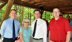 Jay Williams, Linda Brooks, President Chris Morder and Jason Potts.