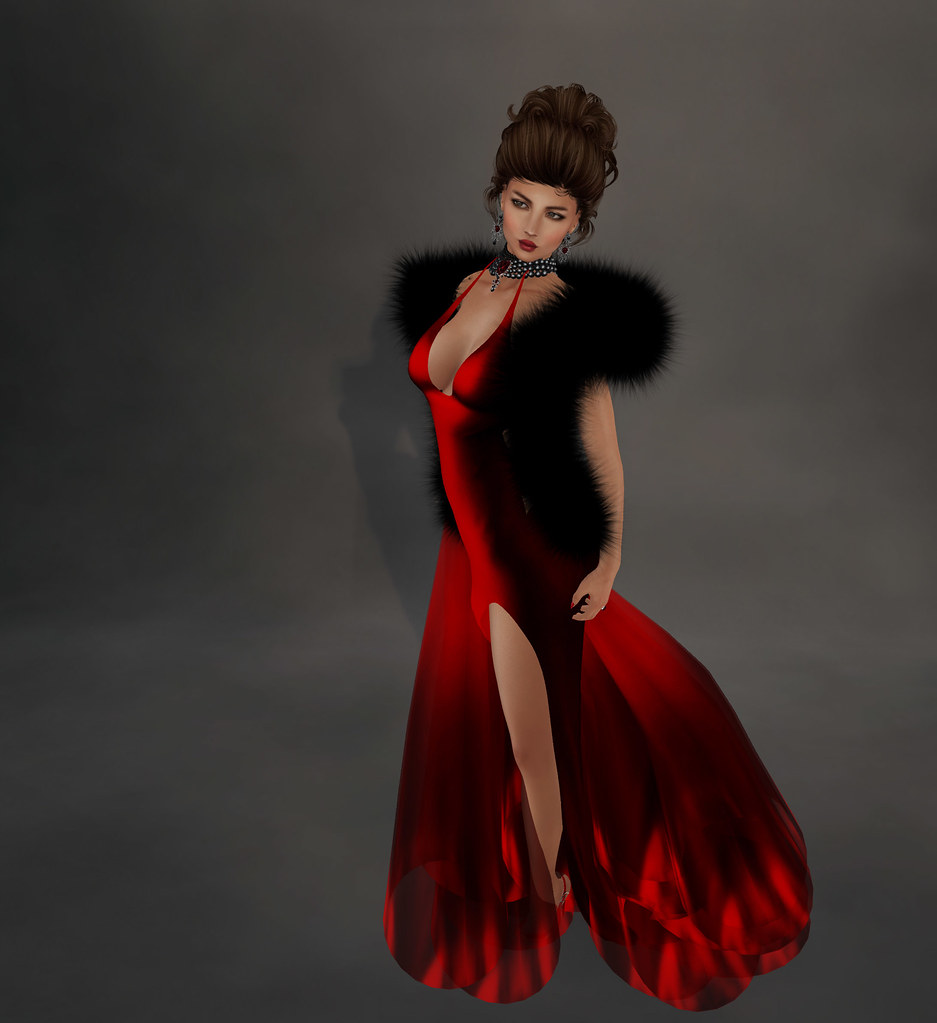 Flo gown, red, Sascha's Designs
