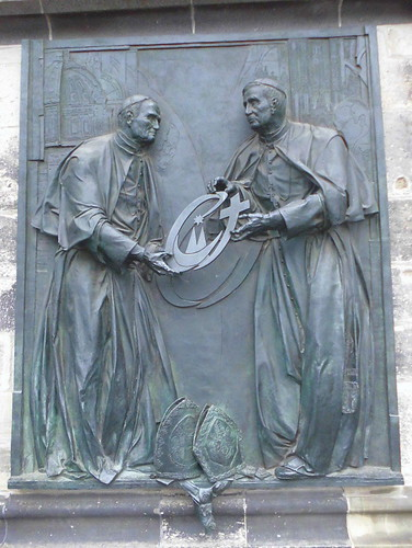 Kölner Dom - Johannes Paul II und Benedikt XVI