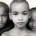 Buddhist novices, Myanmar (Burma) by Dietmar Temps