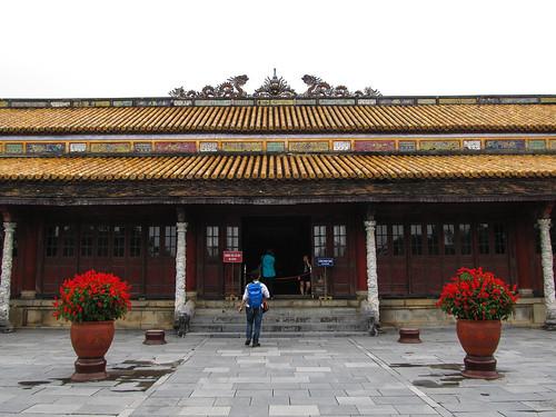 La Citadelle de Hué: le Palais du Trône (avant)