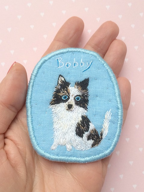 Customized Dog Portrait Brooch