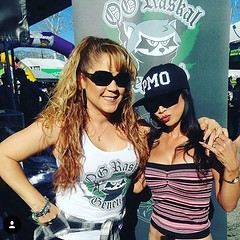 @inkedmom777 and @mz_lee_ showing @packmeone and @phunckyfeeltips some love in front of the @ograskal booth at @hightimesmagazine #cannabiscup #hightimes Thanks for the support !! #Packmeone #PhunckyFeelTips #ograskal #whitefireog #PMO Let's GO!!