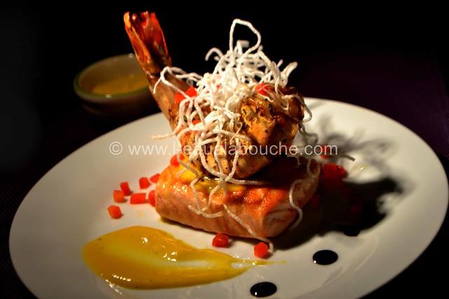 Crevette Géante et Saumon Grillés Crème à la Mangue Pimentée © Ana Luthi Tous droits réservés 48_GF