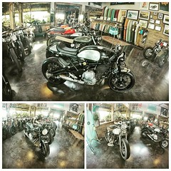 Deus ex Machina (god from the machine) Restaurant in Canggu, near Echo beach  Deus – which spans customised motorbikes, bikes, clothing and accessories – becoming an international proposition. Now they have stores in Australia, Bali, Italy, and USA.  Thei