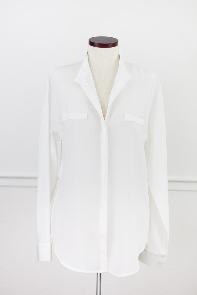Cuyana silk dolman sleeve shirt
