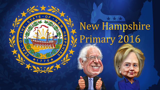 New Hampshire Primary Bernie Sanders vs. Hillary Clinton - Caricatures