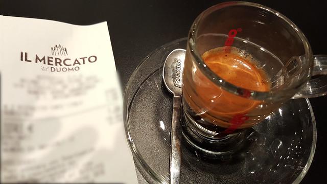 Il Mercato Del Duomo Milano - Espresso receipt