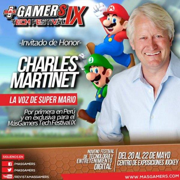 La voz de Mario Bros en el MasGamers Tech Festival IX