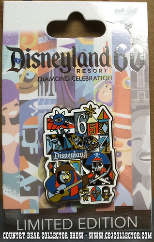 2015 Disneyland 60th Limited Edition Decades Pin - 1965 - 1974 - Country Bear Collector Show #006