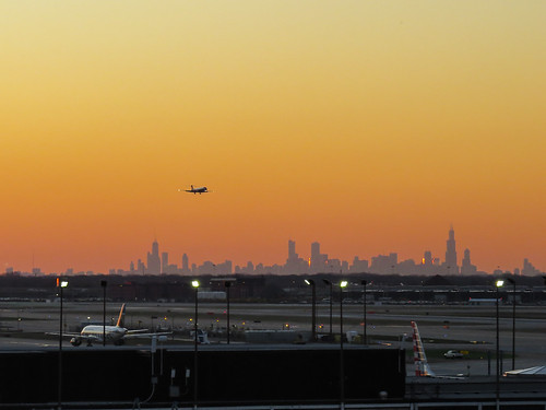 usa chicago silhouette digital america sunrise canon airplane dawn flying illinois cityscape aircraft flight jet ohare airline ord airliner hs daybreak aiport livery superzoom sx50