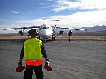 Aerovías DAP RJ85 CC-ANS en Coposa (DAP)