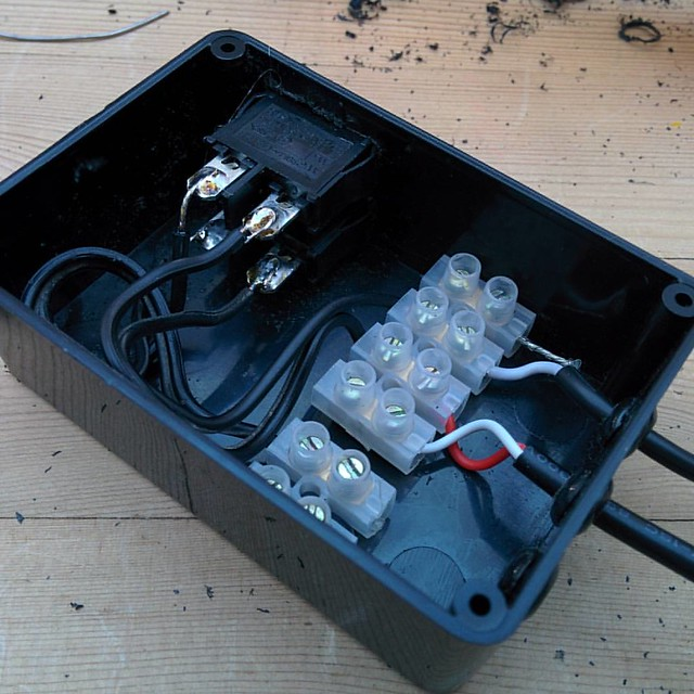 Been making making a dynamo / charger switch box this afternoon #bikepacking #TourDivide #diy #electronics #dynamo #charger