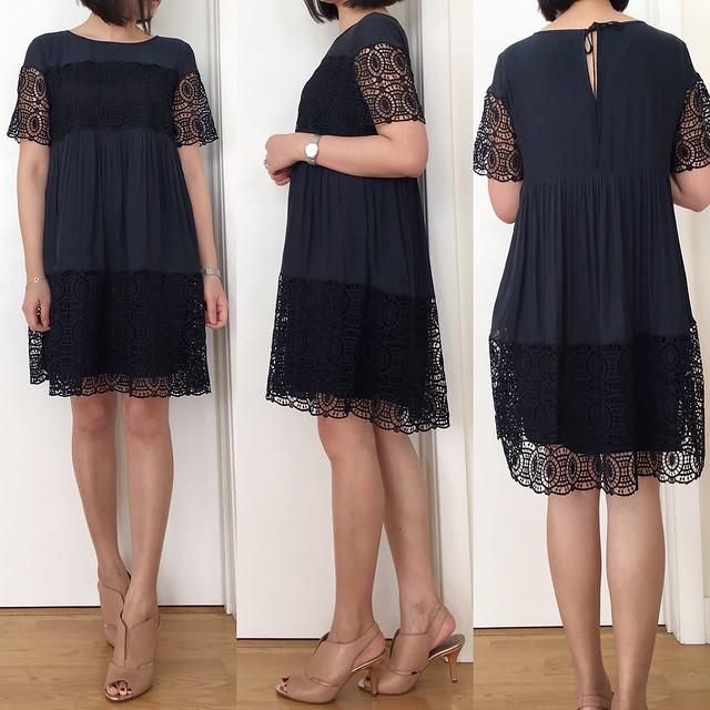 LOFT Lace Babydoll Dress, size XXS regular
