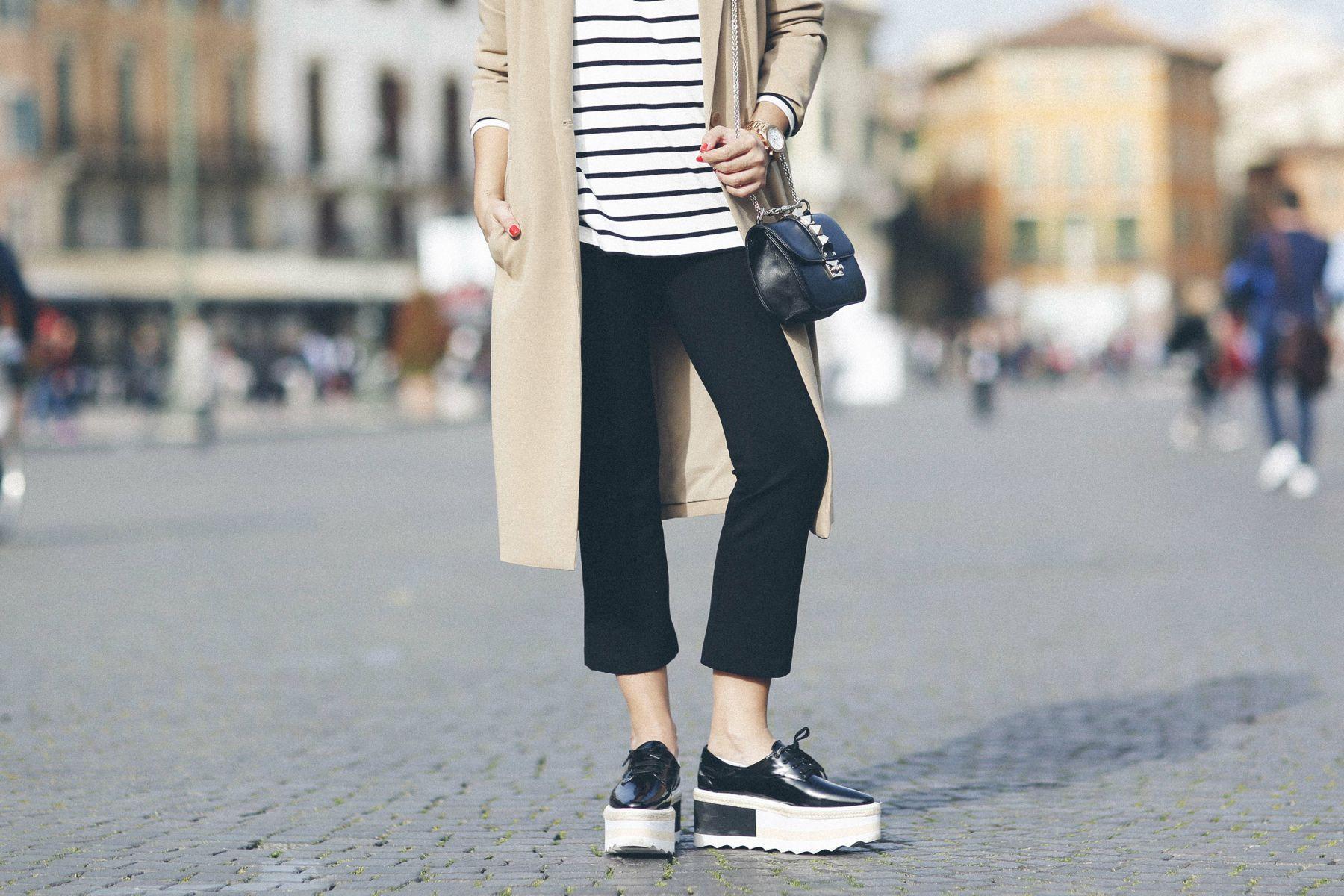 outfit look primavera spring rayas stripes zara mango valentino bolso bag blazer rayban verona street style trendy taste_14