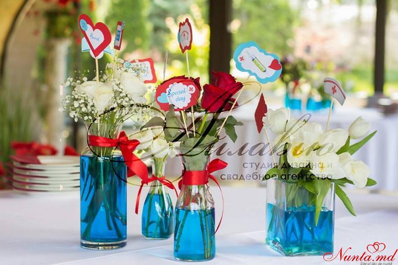 Agenția de organizare a sărbătorilor - «Айлавью» > Nuntă cu elemente inspirate din medicină!
